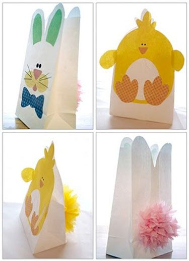 Easter Treat Bags - print these designs on white sacks.