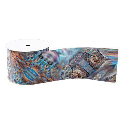 Adrift in Colors Tropical Sunset Cat Grosgrain Ribbon - craft supplies diy custom design supply special