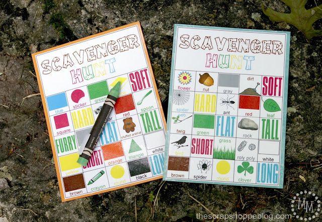 Design Dazzle Summer Camp -  Scavenger Hunt FREE Printables
