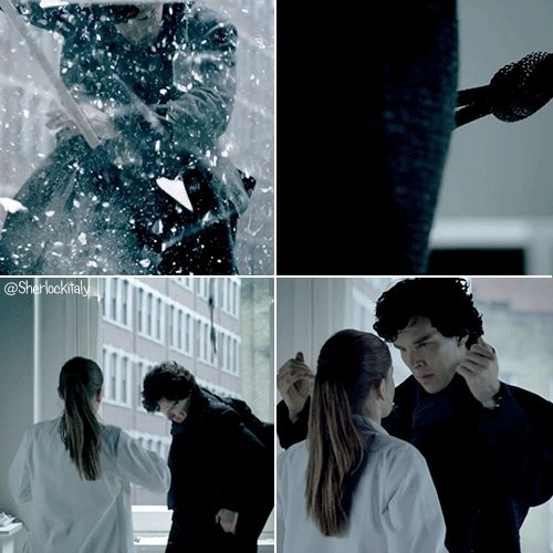 Rule number one of shipping Sherlolly; ALWAYS repin the Coat Flip Hair Ruffle Kiss!