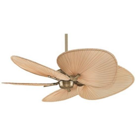 52 Fanimation Islander Brass Palm Leaf Ceiling Fan