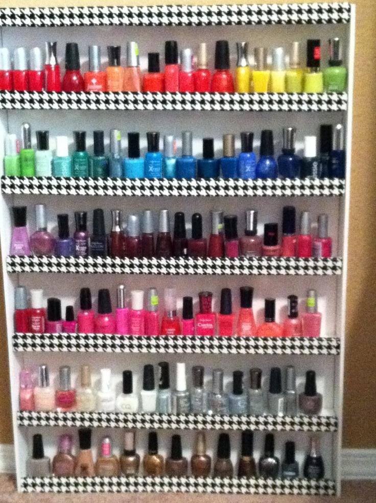 254 best images about nail polish storage organization ideas on pinterest. Black Bedroom Furniture Sets. Home Design Ideas