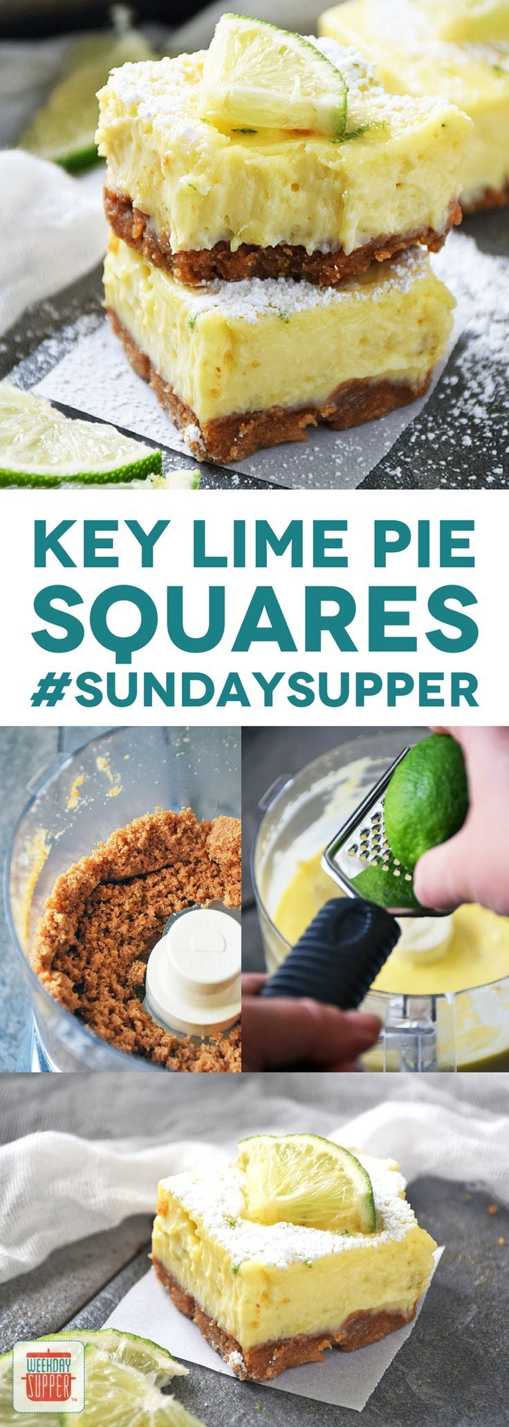 Get ready to pucker up and enjoy these deliciously easy Key Lime Pie Squares! This dessert is easy enough to make any day & impressive for guests!