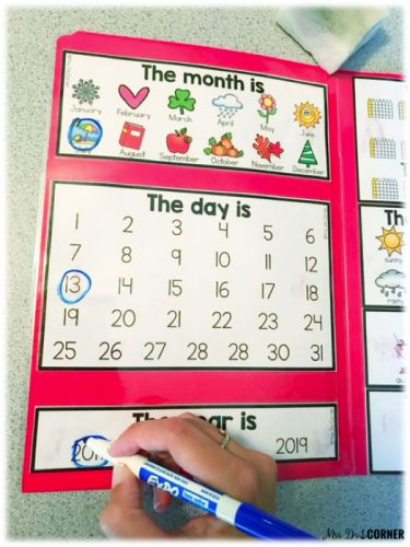 Use the calendar mat during your morning work in special ed to keep all students engaged and concentrated on the task of calendar.