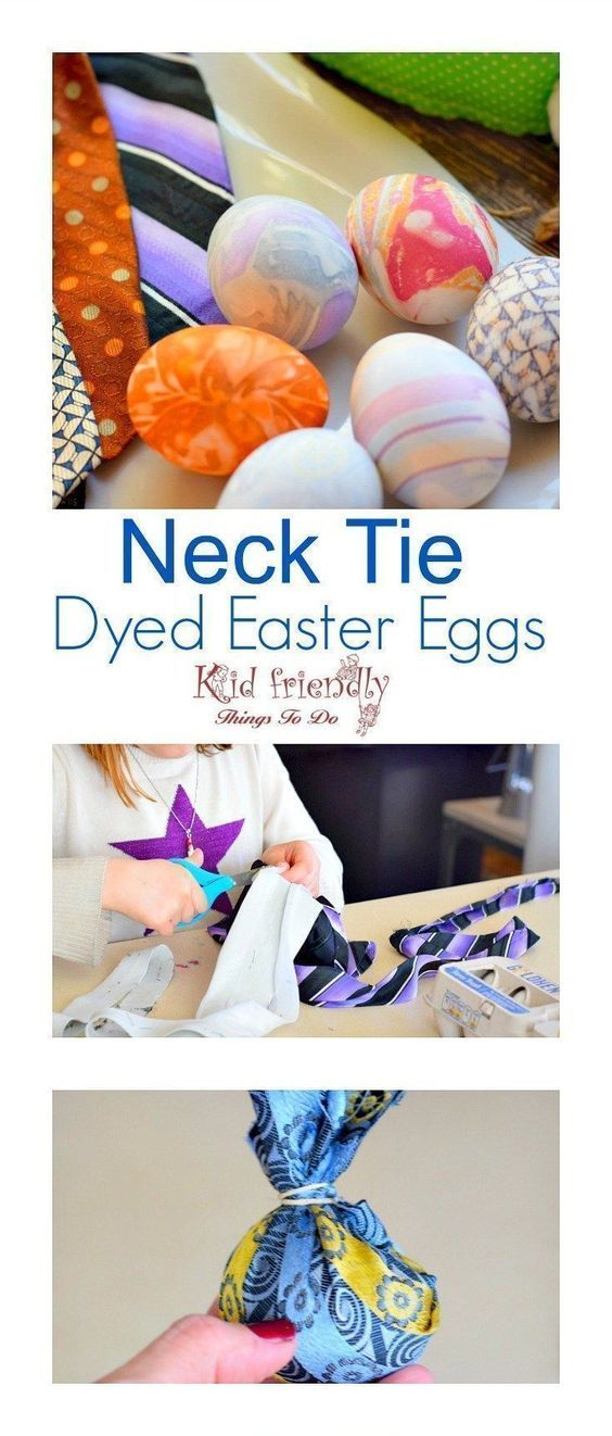 This is so cool! How to dye Easter Eggs with a Neck Tie. This is such a fun Easter craft to do with the kids! http://www.kidfriendlythingstodo.com