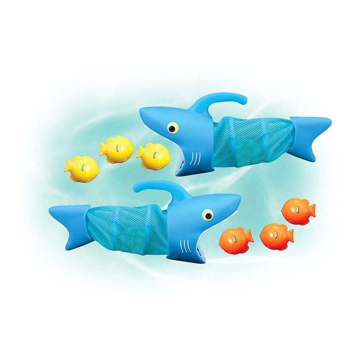 $19.99 Melissa & Doug® Sunny Patch Spark Shark Fish Hunt Pool Game (Incld 2 Nets + 6 Fish to Catch)