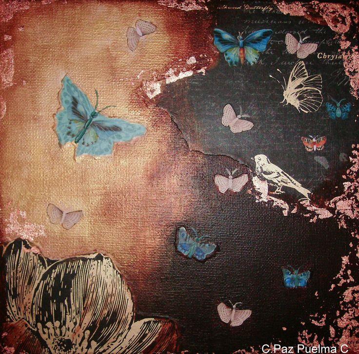 collage, serie mariposas 2