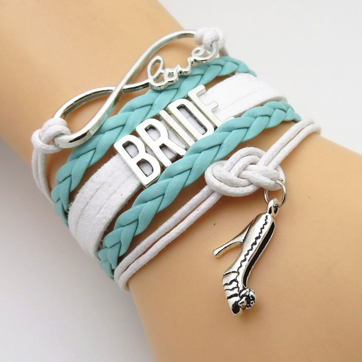 Handmade Leather Strap Mint Wedding Bracelets Show off the Bride and the bridal party with one of these beautiful premium hand made braided leather cord wrap b