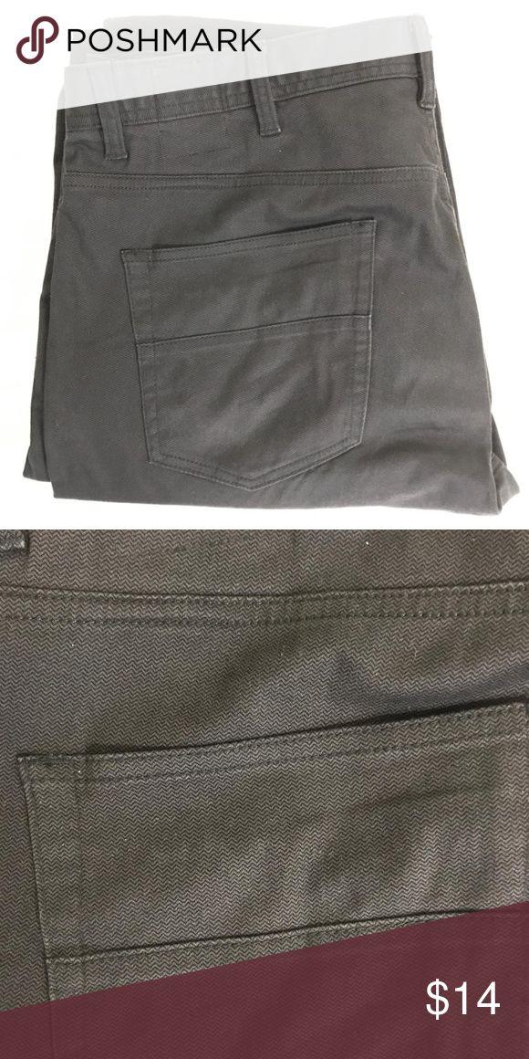 English Laundry Brixton Men/'s Slim Leg Comfort 5-Pocket Textured Pants MED GRAY