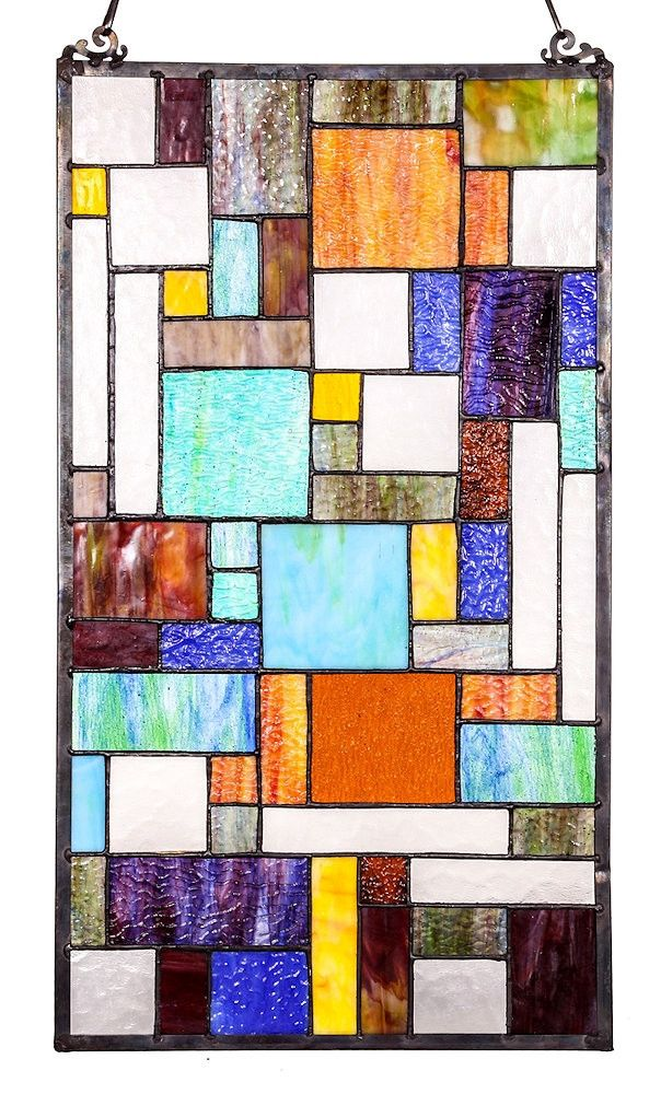 Abstract Java Stained Glass Window Panel | 23 inches
