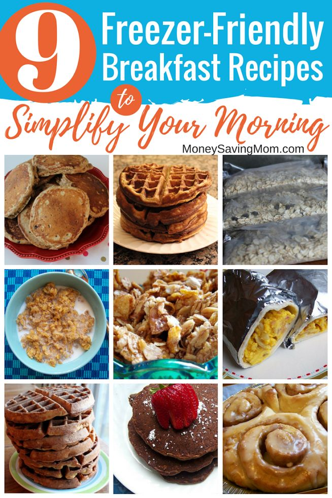 Prepping breakfasts ahead of time is such an easy way to simplify your weekday mornings! Check out this list of great freezer-friendly breakfast ideas!