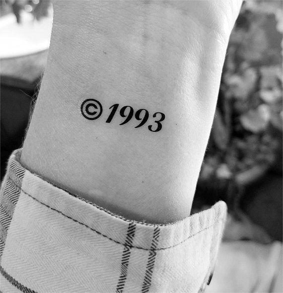 Custom Year Tattoos Birthday Tattoos Temporary Tattoo Etsy Birthday Tattoo Tattoos For Guys Minimalist Tattoo
