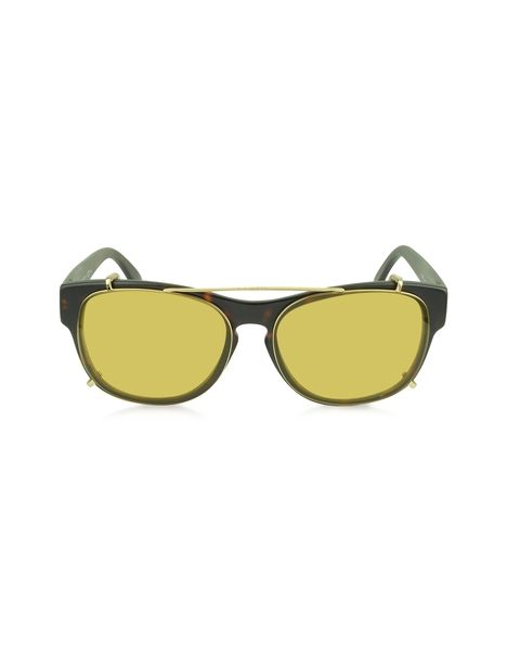 Havana Yellow Sunglasses by Gucci