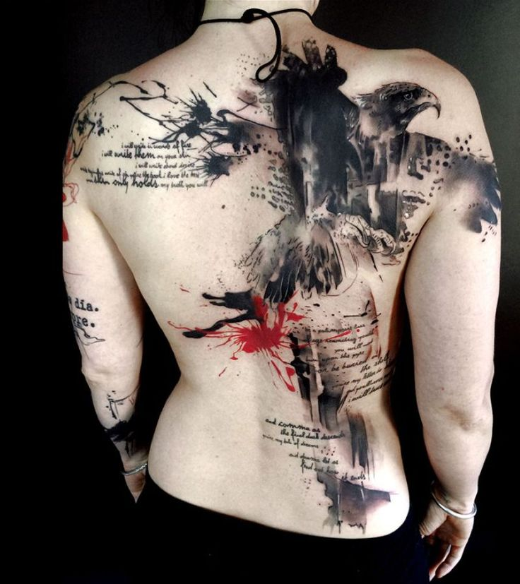 What are Trash Polka Tattoos? A painterly and dynamic tattoo style created by Simone Plaff and Volko Merschky at Buena Vista Tattoo Club in Germany, a collaborative effort described as a combination of realism and trash.