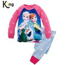 Cartoon meisjes lange mouw kinderen pyjama sets jongens meisjes kerst pyjama nachtkleding nachtkleding pyjama baby peuter jongens kind 2-7t(China (Mainland))
