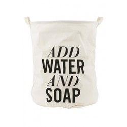 "Vasketøjspose "" Add Water and Soap"""