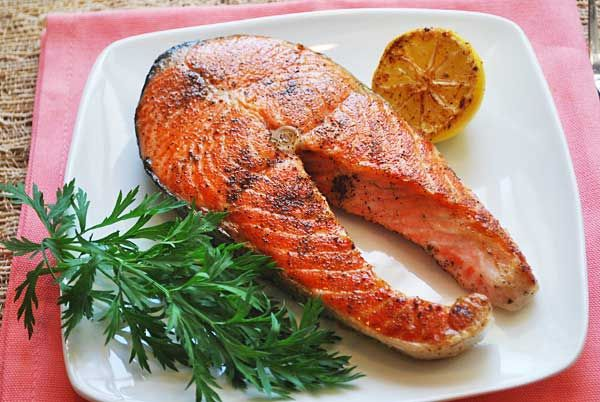 Butter and Sage Salmon Steaks