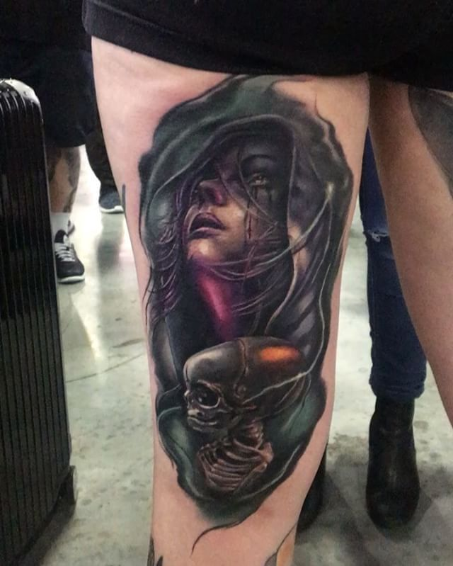 My tattoo done by Andrew Smith at the Sydney International Tattoo Expo that also won runner up for tattoo of the day!