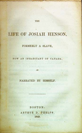 best uncle tom s cabin images tom s harriet electronic text of the life of josiah henson a slave narrative that stowe used as tom smemoirscabin