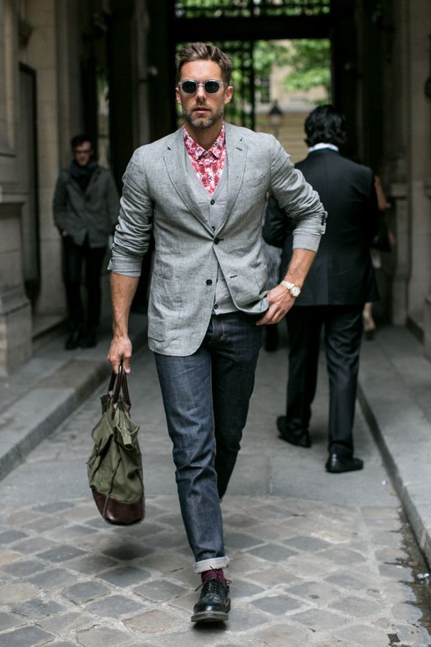 Sharp Jackets Men 39 S Street Style Roundup From Paris Love This Look Cuffed