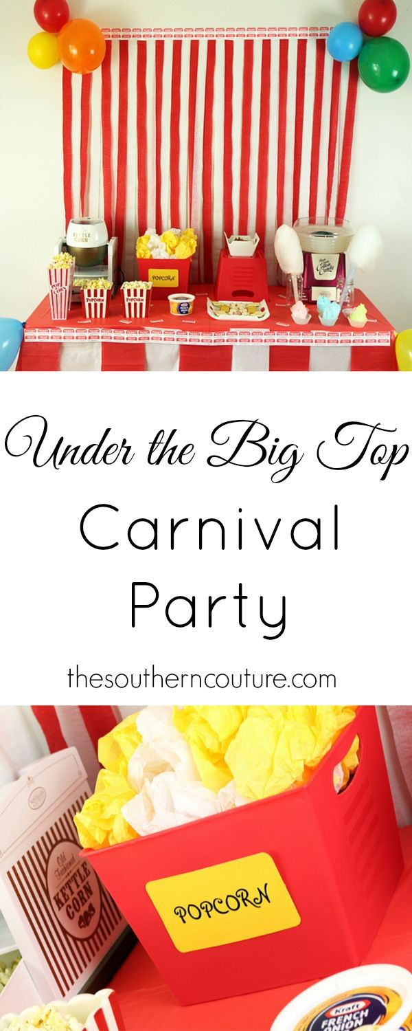 Get all the decorations and food ideas you need to throw the best carnival party for the whole neighborhood. Be sure to get all the details at thesoutherncouture.com. #DipYourWay #ad