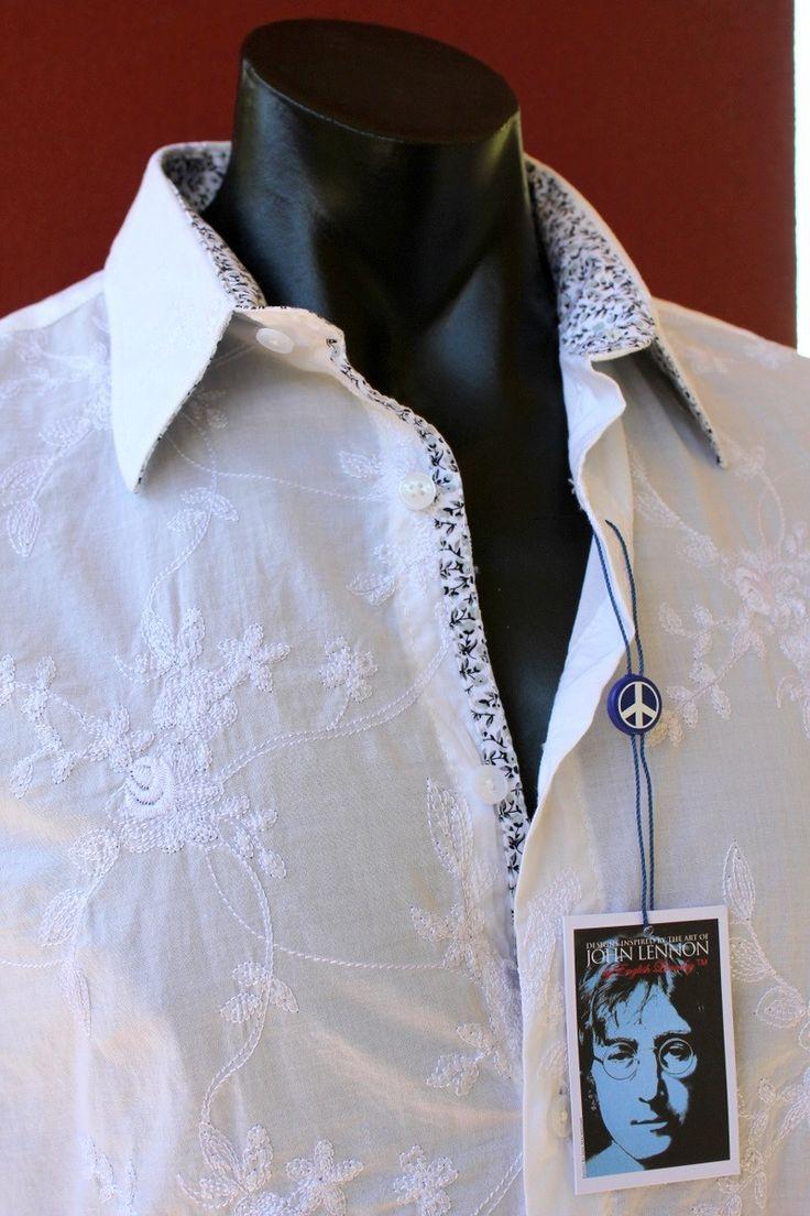 english laundry - John Lennon I Feel Fine Shirt White Embroidered