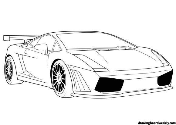 Lamborghini Free Coloring Page Auto Tekeningen Lamborghini Auto