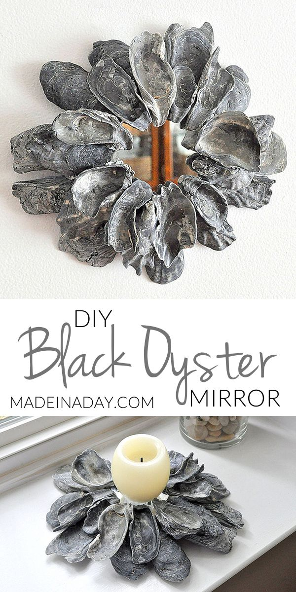 DIY Black Oyster Shell Mirror | Made in a Day