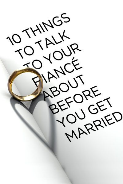 how to talk with fiance before marriage