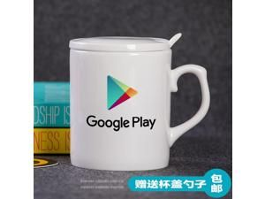 Mug Cup for Geek Glass ceramic mug gift programmer Google Google Play app store at the Fed Cup produced