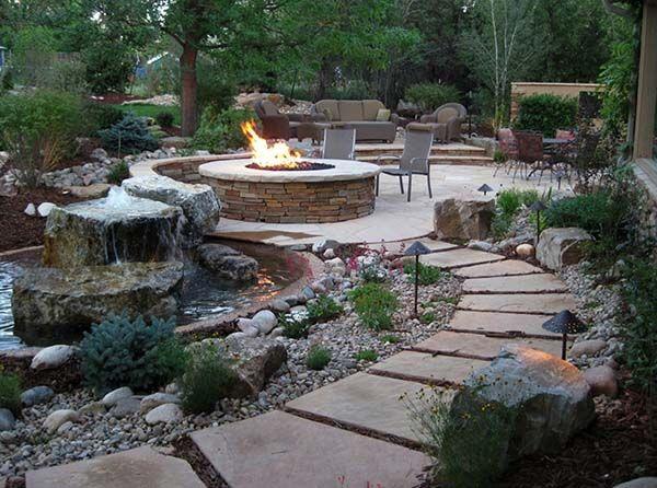 Incredibly fabulous and tranquil backyard waterfalls
