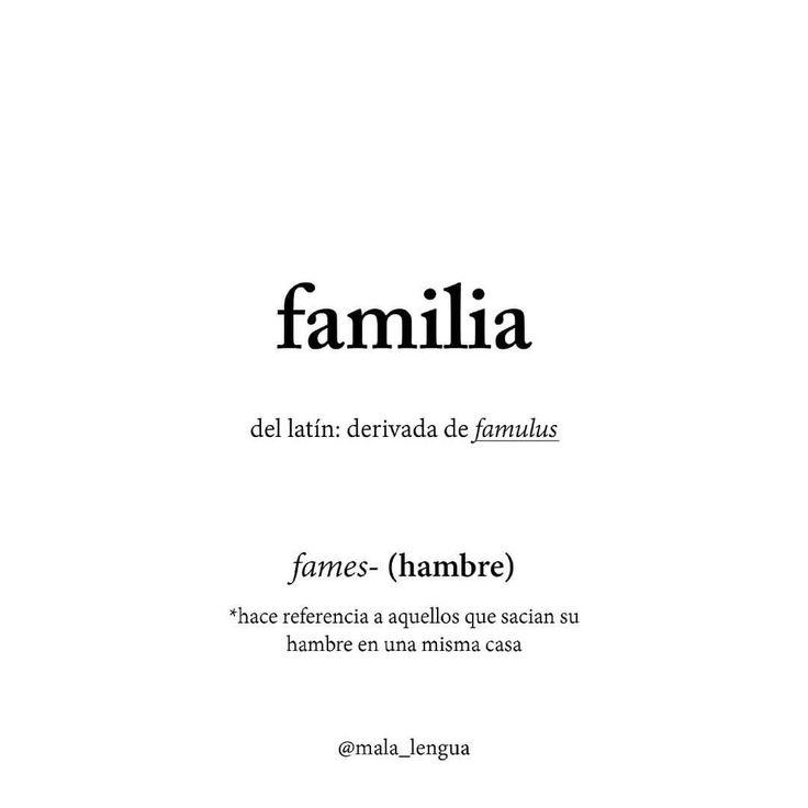#familia#etimologia#malalengua#lenguaje