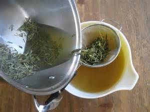 In-Shower Hair Rinse for Hair Growth. Brew:1 cup distilled water (40% Dried Rosemary,40% Dried Nettle Leaf,10% Dried Mint Leaf, 10% Dried Sage). Essential oils:5 Drops of Tea Tree oil and 5 Drops of Rosemary Essential oil. 1 tsp Jojoba oil. 1 tsp Aloe Vera (Optional) 2 Drops of Lavender, Mineral Oil, Extra Virgin Olive Oil, or Burdock Root Oil. Shake well and follow with cold water rinse. Try using with In-Shower Hair Scrub for Hair Growth.