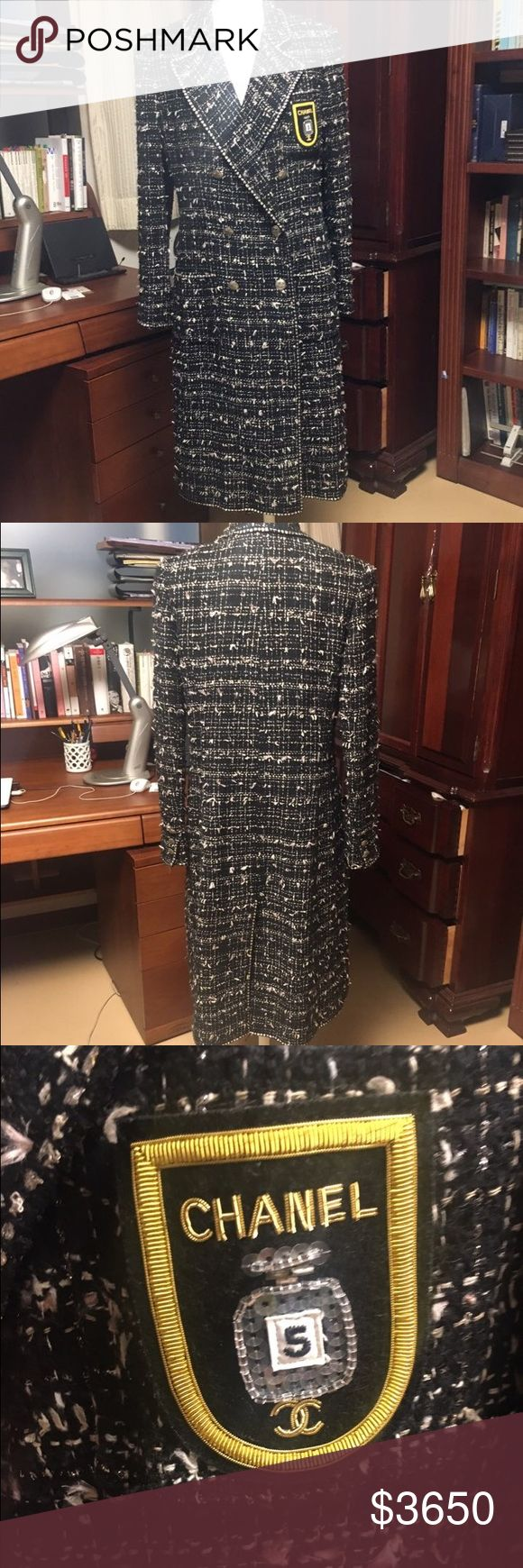 ($2950) Authentic chanel coat / jacket 100% authentic. Patch has been added to original design (can take off if requested, it was hand sewn). Excellent condition with no flaws to note. Size 40. Selling matching skirt separately  Will sell for $2950 (pp protected). CHANEL Jackets & Coats Trench Coats