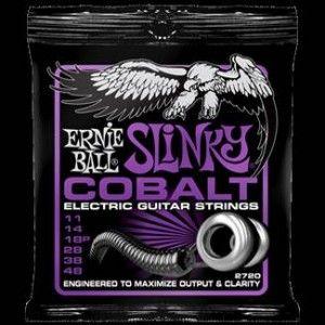Ernie Ball – 2720 – Cobalt Power Slinky. Per chitarra elettrica. Avvolgimento in cobalto Scalatura .011 – .014 – .018p – .028 – .038 – .048