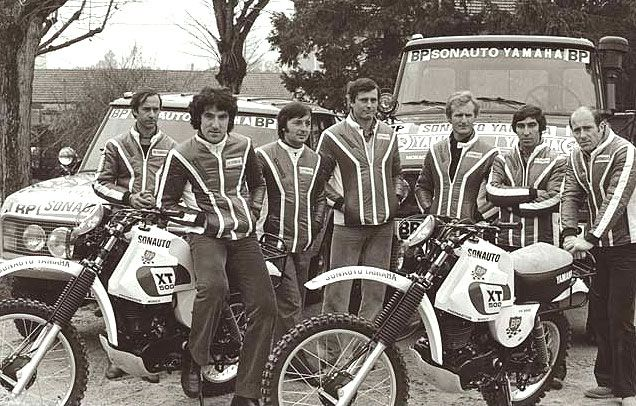 Paris -Dakar Yamaha team 1979 XT500