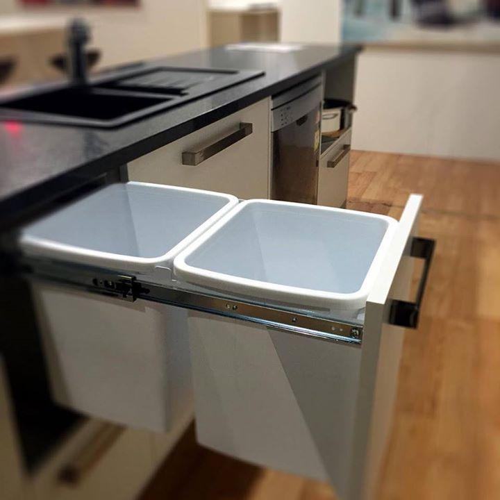 Hideaway dual kitchen bins