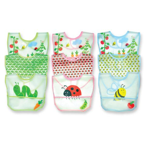 Garden Pocket Bib http://www.littleandloved.co.nz/collections/eat/products/waterproof-garden-bib-3pk