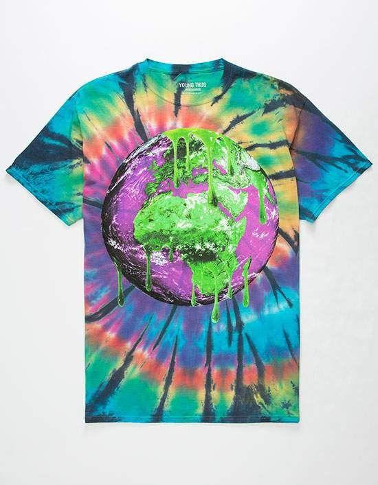 YOUNG THUG Slime Earth Swirl Mens T-Shirt