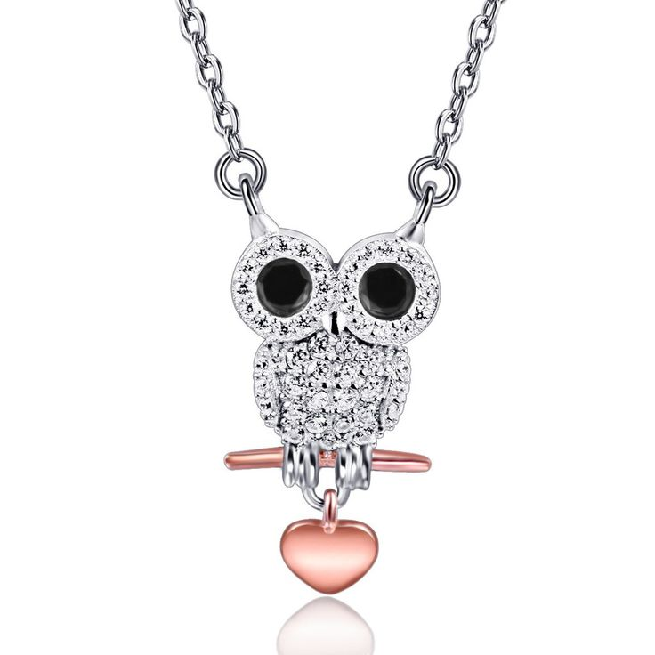 84 best owl pendant necklace images on pinterest owl pendant owl womens pendant necklace owl 925 sterling silver aloadofball Image collections