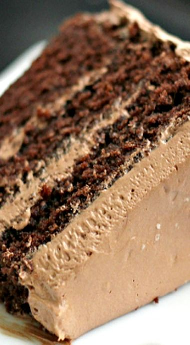 sweet and salty cake (chocolate cake with salted caramel chocolate ganache frosting...