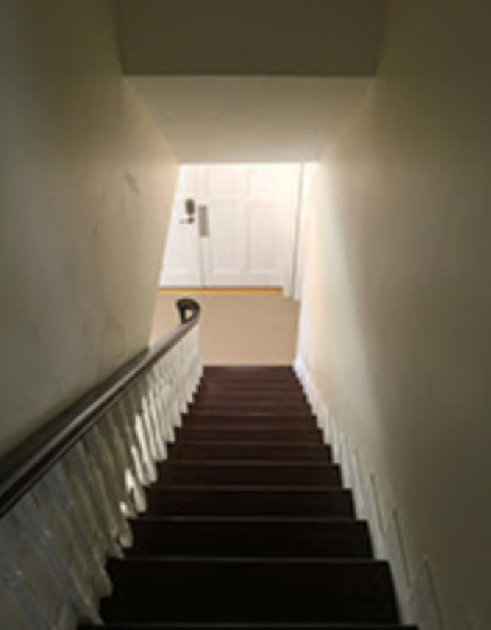 Your stairs should not directly face your front door when for Feng shui bedroom door facing stairs