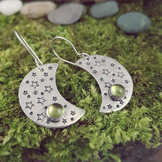 Check out this item in my Etsy shop https://www.etsy.com/listing/587619599/moon-earrings-hammered-sterling-silver