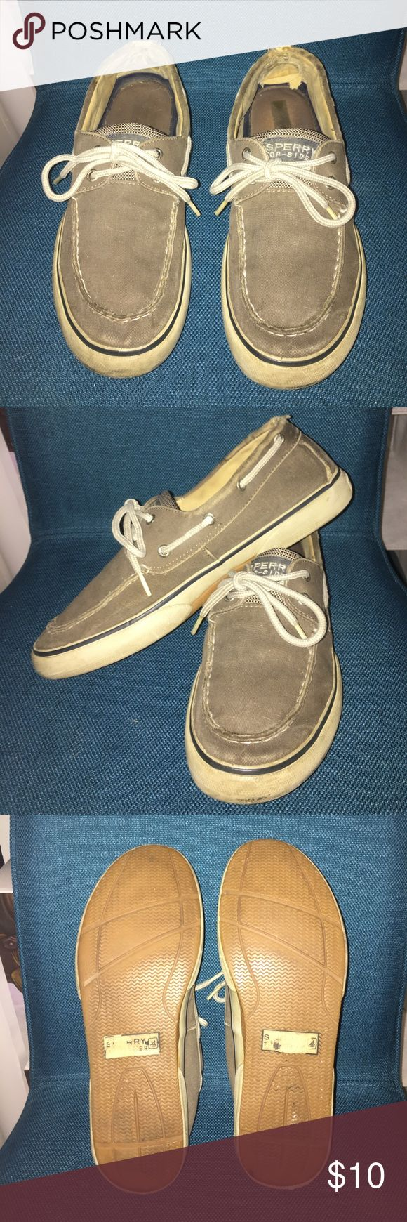 Sperry Top-Sider Men's Boat Shoes Sperry khaki top-sider men size 10. A worn counter, but still very durable. Sperry Top-Sider Shoes Boat Shoes