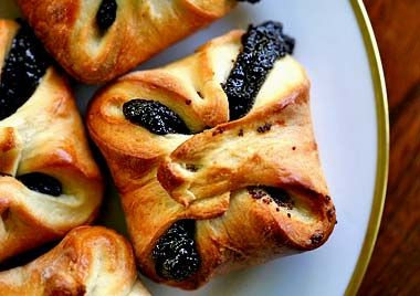 Classic Czechoslovakian kolache pastry, with a poppy seed filling.  Minnesota style, the pastry is folded up on itself.