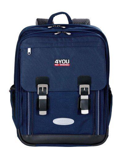#4YOU #Schulrucksack #Classic #Plus #Relfexx #Blau #(Navy) #11430163400 - 4YOU…