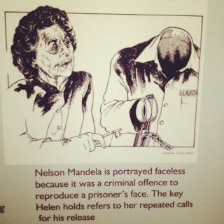 Cartoon from the Helen Suzman Exhibition - Fighter for Human Rights. On at Constitution Hill, Johannesburg til 7 December
