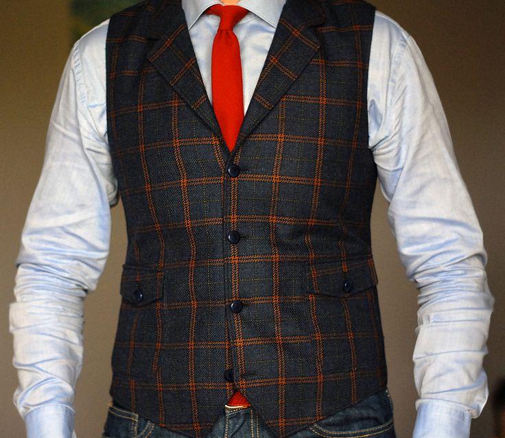 ENASONI Tailor-Made lapel waistcoat - 100% italian wool