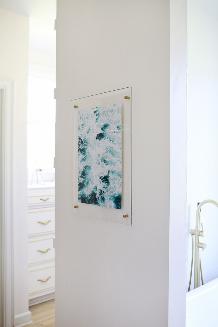 how to make an acrylic frame via a beautiful mess