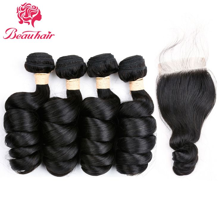 Beauhair Brazilian Hair Loose Wave 4 Bundles Non-remy Weaves With 4*4 Lace Closure Unprocessed Human Hair Weaving On Sale. Yesterday's price: US $75.15 (61.56 EUR). Today's price: US $75.15 (62.13 EUR). Discount: 64%.
